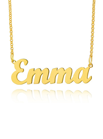 [Free Shipping]Custom 18k Gold Plated Letter Name Necklace - Birthday Gifts Mother's Day Gifts (288217710)
