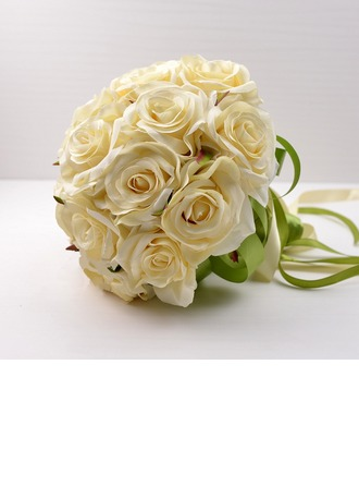 Pretty Round Artificial Silk Bridal Bouquets -