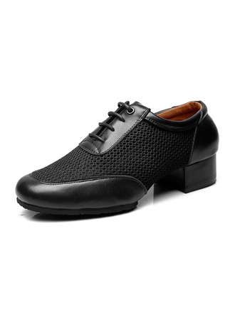 Men's Real Leather Latin Modern Ballroom Swing Dance Shoes