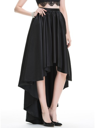A-Line/Princess Asymmetrical Satin Prom Skirt