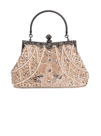 Fashionable Acrylic/Beading With Metal Clutches/Top Handle Bags