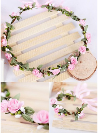 Artificial Silk/Paper With Ribbon Flower Headband ( Including Wrist Corsage)