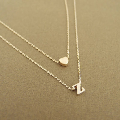 Bridesmaid Gifts - Personalized Shiny Alloy Necklace