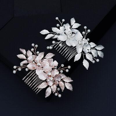 Damen Schöne Strass/Legierung/Faux-Perlen Kämme und Haarspangen mit Strass/Venezianischen Perle (In Einem Stück Verkauft)