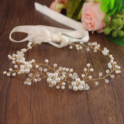 Special Alloy Headbands With Venetian Pearl (Sold in single piece)