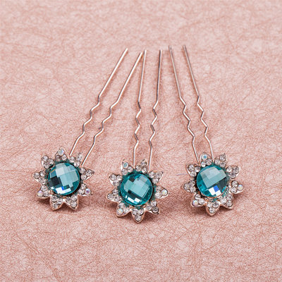 Charming Rhinestone/Alloy Hairpins(Set of 6)