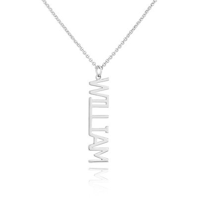 [Free Shipping]Custom Sterling Silver Signature Name Necklace (288219244)-Christmas Gifts