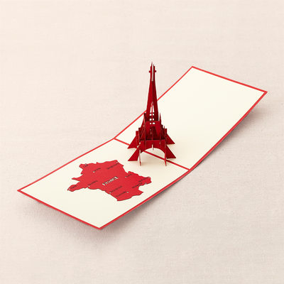 Three-dimensional Eiffel Tower Greeting Cards