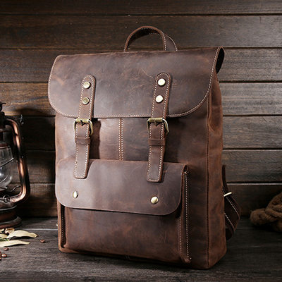 Groom Gifts - Classic Leather Backpack
