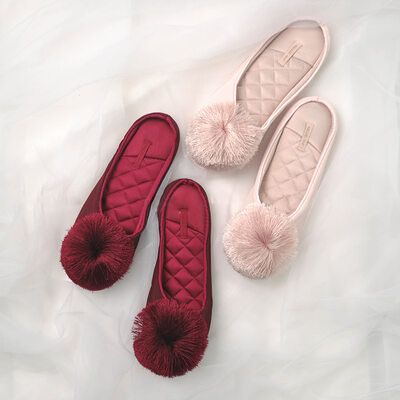 Bridesmaid Gifts - Sweet Satin Polyester Slippers