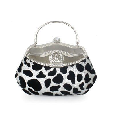 Unique/Shining/Special/Cute/Shell Shaped/Leopard Abrasive Cloth Clutches/Evening Bags