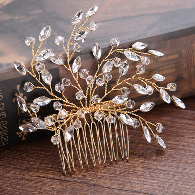 Glamourous Crystal/Alloy Combs & Barrettes (Sold in single piece)