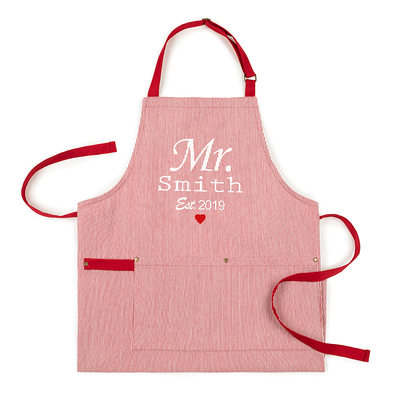 Groom Gifts - Personalized Stripe Polyester Apron