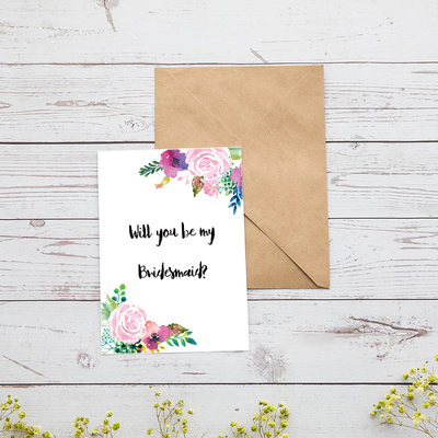 Bridesmaid Gifts - Attractive Special Eye-catching Card Paper Wedding Day Card