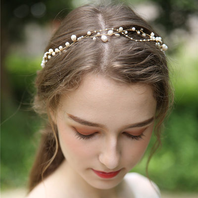 Ladies Beautiful Imitation Pearls/Beads Headbands With Venetian Pearl