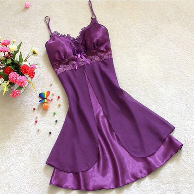 Feminine Chinlon/Nylon Sleepwear/Slips