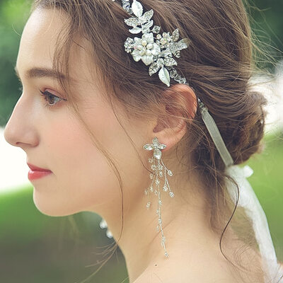 Ladies' Beautiful Alloy Beads Earrings For Bride/For Bridesmaid/For Mother/For Friends/For Her