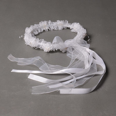 Elegant Silk Flower/Freshwater Pearl Headbands