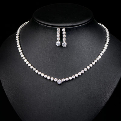 Ladies' Elegant Zircon Jewelry Sets For Bride/For Bridesmaid/For Friends