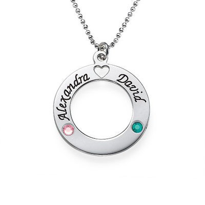 Personalized Ladies' Chic With Round Cubic Zirconia Engraved Necklaces Necklaces For Mother