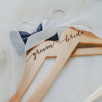 Groom Gifts - Modern Fashion Wooden Hanger (Set of 2)