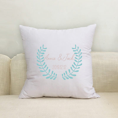 Bride Gifts - Personalized Solid Color Polyester Pillowcase