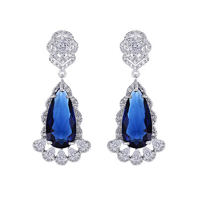 Ladies' Unique Copper/Platinum Plated With Round Cubic Zirconia Earrings For Bridesmaid/For Mother