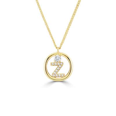 Personalized Ladies' 925 Sterling Silver/Cubic Zirconia With Round Cubic Zirconia Initial Necklaces Bracelets For Her