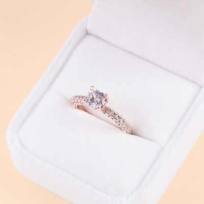 Bride Gifts - Fascinating Zircon Copper Jewelry Ring