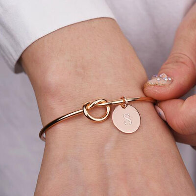 Bridesmaid Gifts - Personalized Elegant Alloy Bracelet