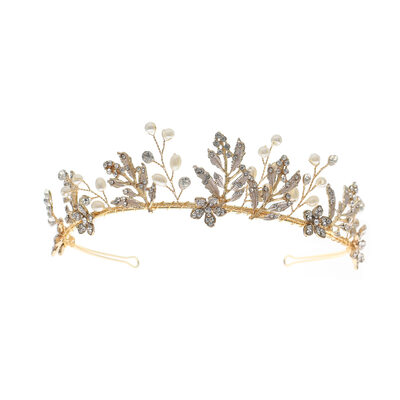 Ladies Beautiful Rhinestone Tiaras With Rhinestone (Sold in single piece)