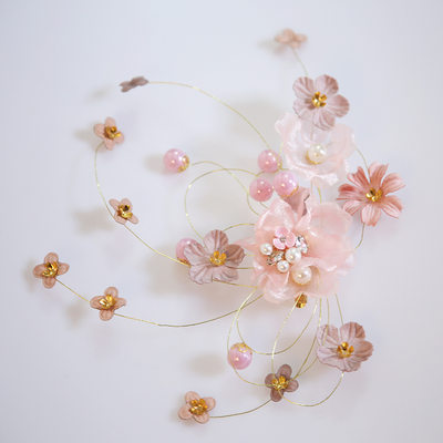 Ladies Gorgeous Alloy/Imitation Pearls/Chiffon Hairpins With Venetian Pearl