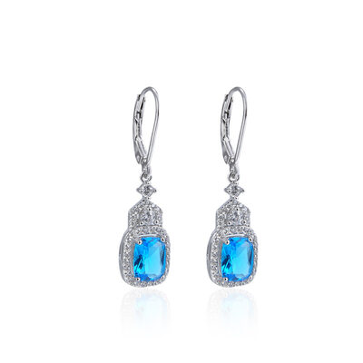 Ladies' Vintage 925 Sterling Silver With Cubic Cubic Zirconia Earrings For Mother/For Friends