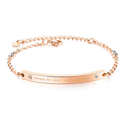 Bridesmaid Gifts - Eye-catching Delicate Stainless Steel Bracelet