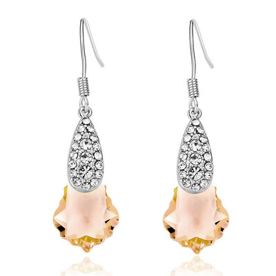 Ladies' Chic Alloy Rhinestone/Austrian Crystal Earrings For Friends