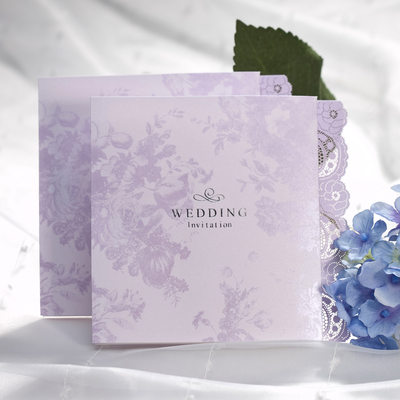 Blommig Stil Z-vikning Invitation Cards