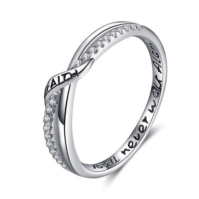 Non-personalized Ladies' Elegant 925 Sterling Silver Rings For Bride/For Bridesmaid/For Couple