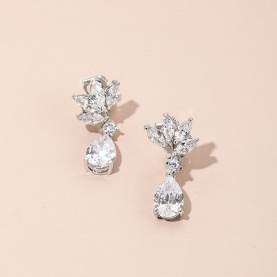 Ladies' Elegant Zircon Earrings For Bride/For Bridesmaid/For Mother/For Friends