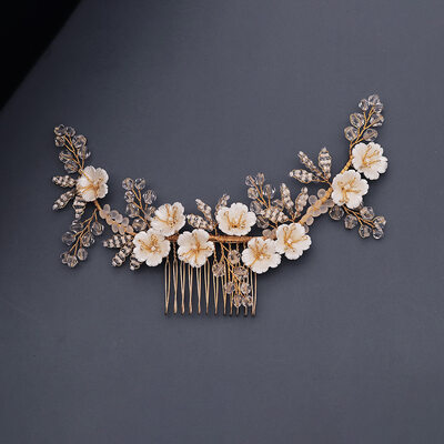Ladies Beautiful Crystal Combs & Barrettes With Crystal (Sold in single piece)