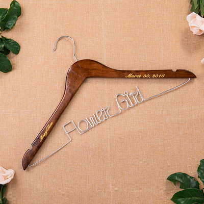 Bridesmaid Gifts - Personalized Beautiful Classic Wooden Hanger
