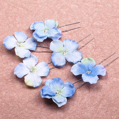 Beautiful Crystal/Alloy/Fabric Hairpins/Flowers & Feathers (Set of 6)