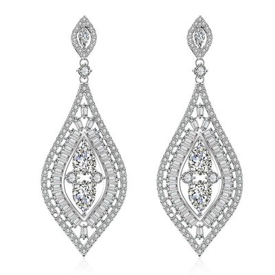 Ladies' Elegant Copper/Zircon Earrings For Bride/For Bridesmaid