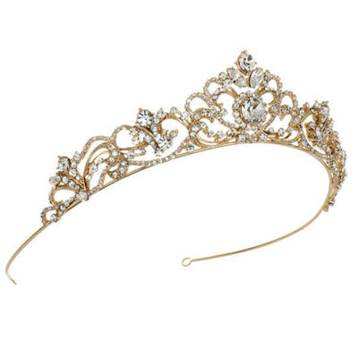 Ladies Amazing Rhinestone/Alloy/Imitation Pearls Tiaras With Rhinestone (Sold in single piece)