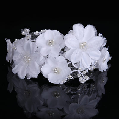 Ladies Fashion Silk Flower Headbands