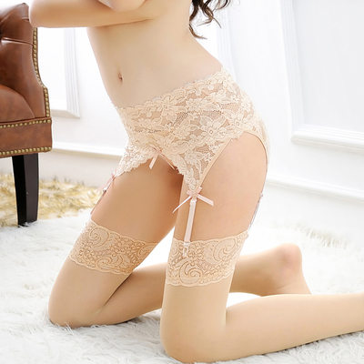 Lace/Nylon Fashion Lingerie Set