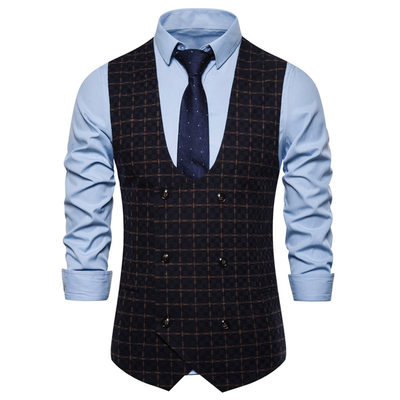 Classic Plaid Mænds Vest