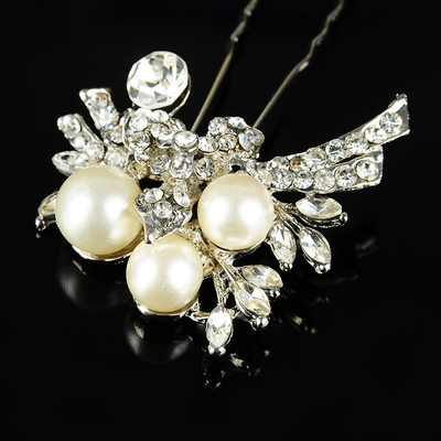 Ladies Beautiful Rhinestone/Alloy/Imitation Pearls Hairpins