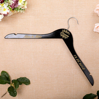 Groom Gifts - Personalized Vintage Wooden Hanger