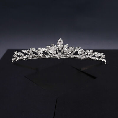 Ladies Lovely Rhinestone/Alloy/Zircon Tiaras With Rhinestone (Sold in single piece)