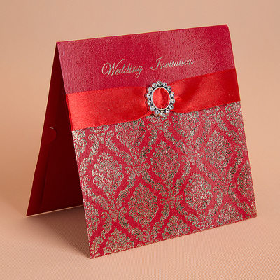 Florales Estilo Top Fold Invitation Cards